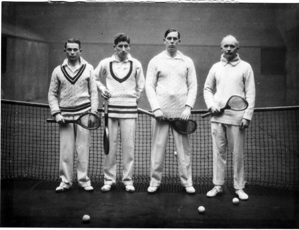 Players R.W. Goody, C.E. Lambert, Harold Wild and Captain HB Noble, January 1932
